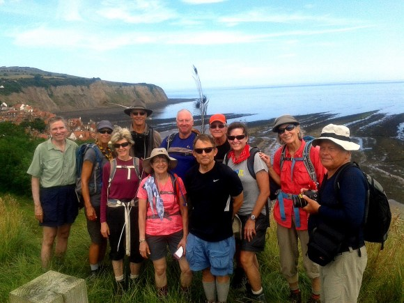 Completing the hike at Robin Hood's Bay