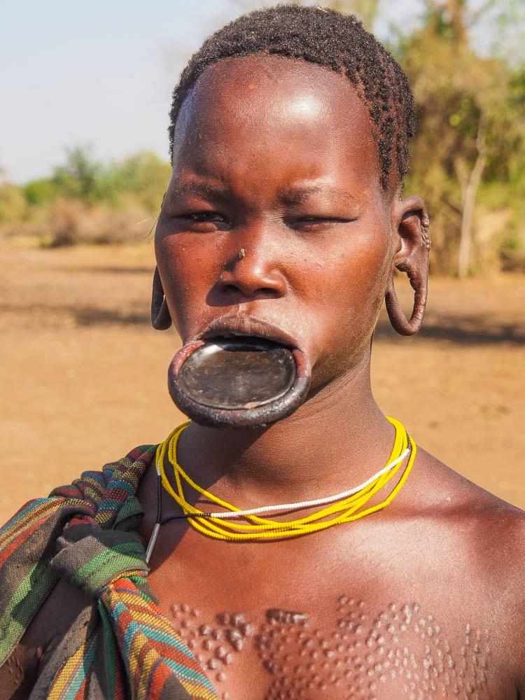 Mursi woman with lip plate