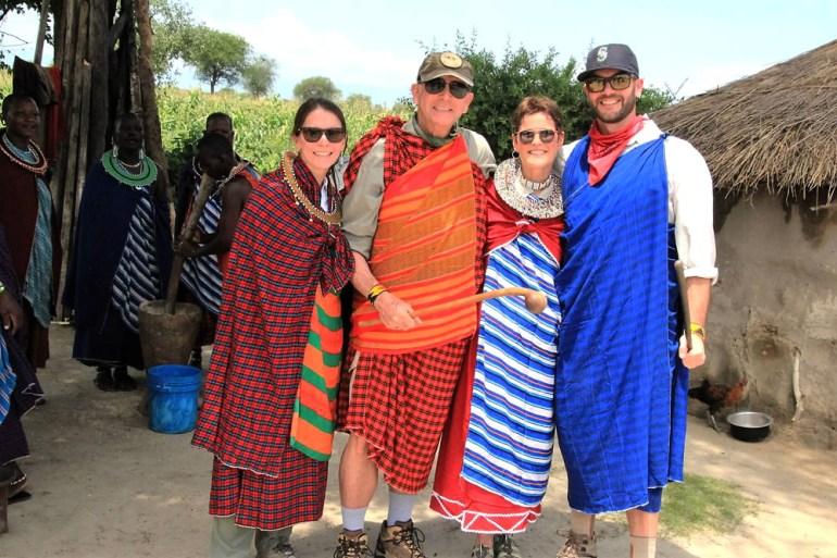 Dressed for Maasai dancing