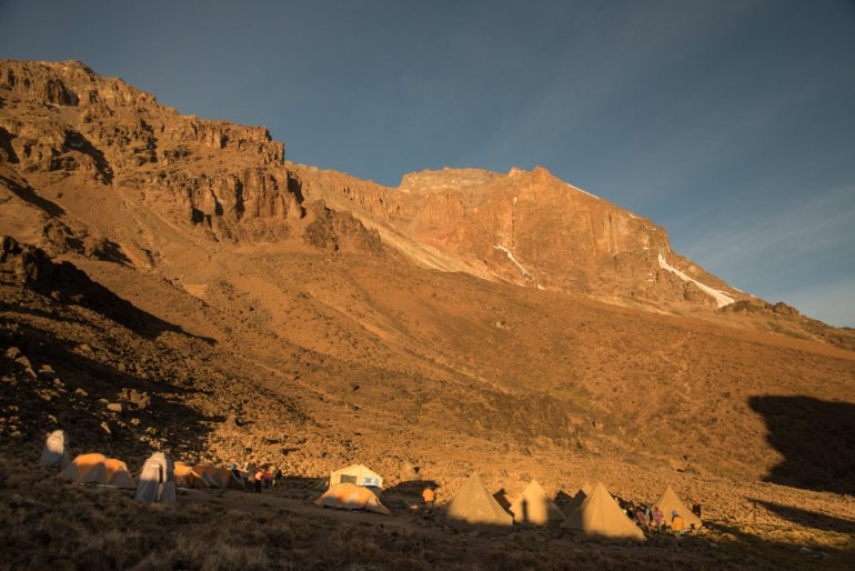 campsite on Kilimanjaro near Lava Tower