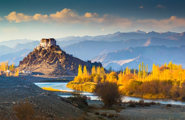 India-Ladakh-Leh at Sunset