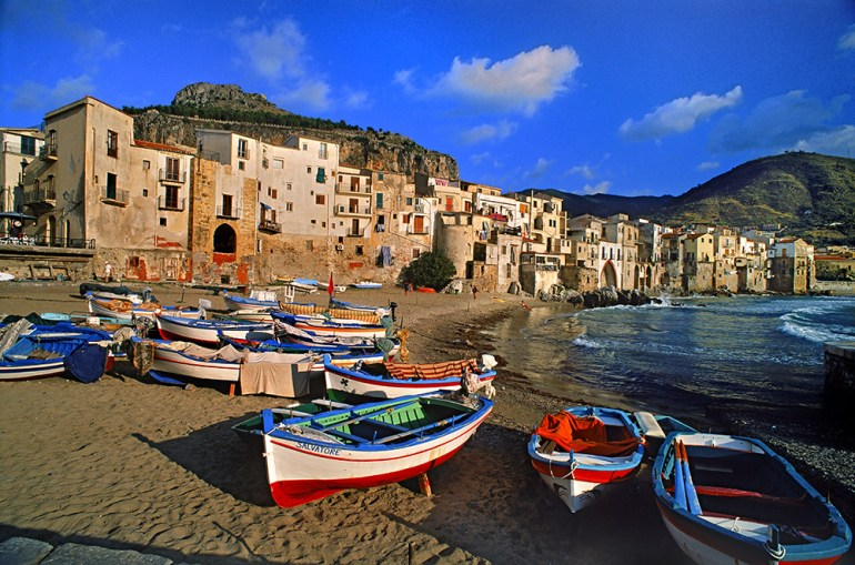 Boats on Beach in Sicily