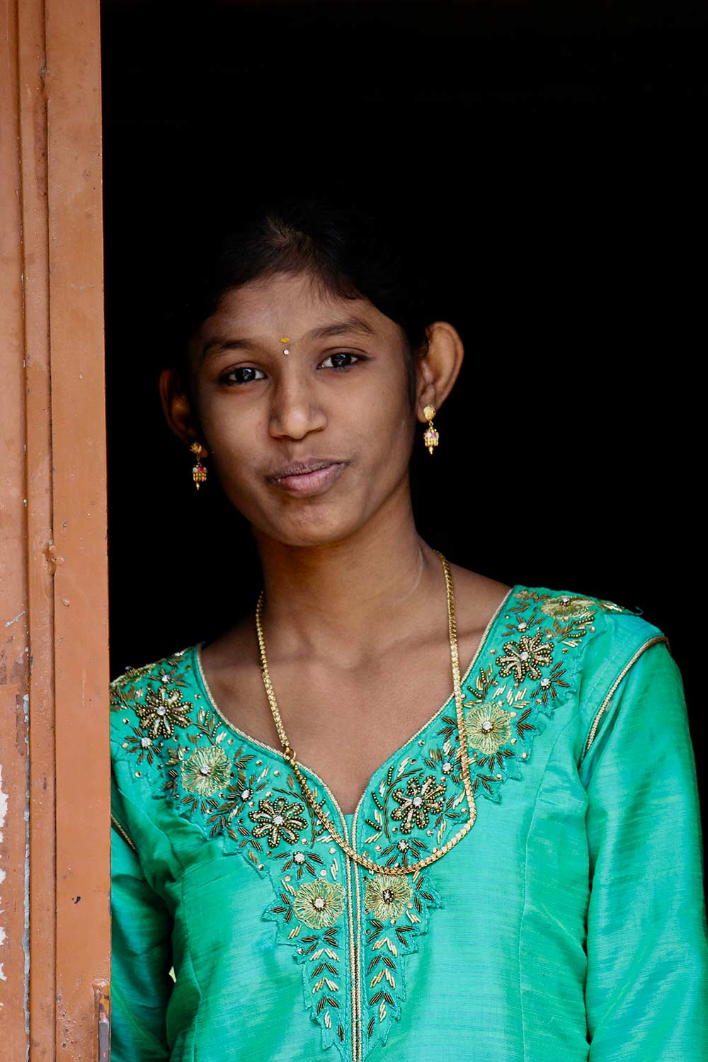 A girl at the Pongal Festival India