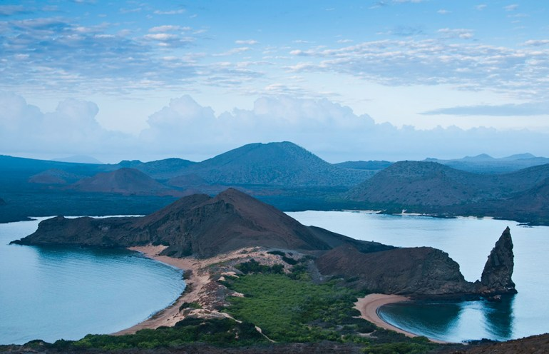 bartolome peak in the galapagos