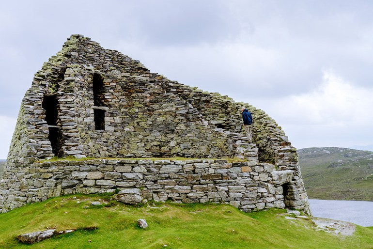 Iron Age Broch, Dun Carloway, Isle of Lewis Scotland