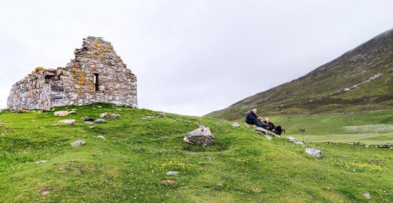 Snack break, Isle of Scalpay Scotland