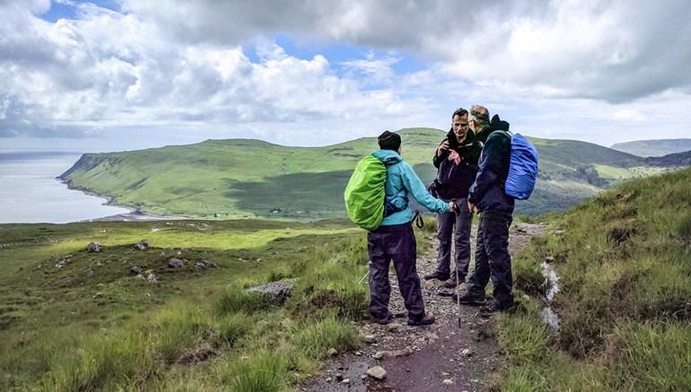A pause on a hike, Isle of Skye Scotland