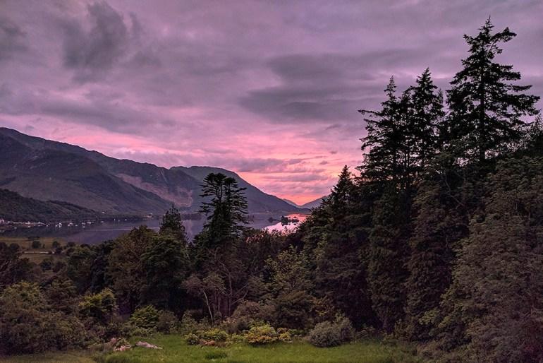 Sunset from Glencoe House Scotland