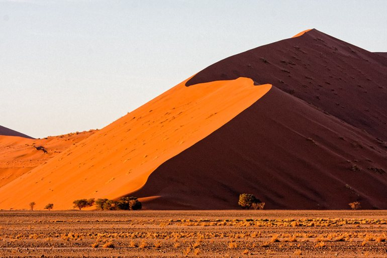 sossusvlei in the morning