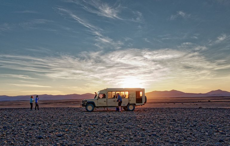 sundowner in Tsauchab Riverbed, Namibia