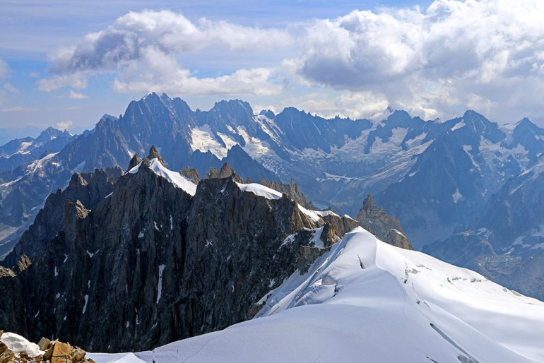Aiguille de Midi to Aiguille Verte and Glacier de Talefre Italy