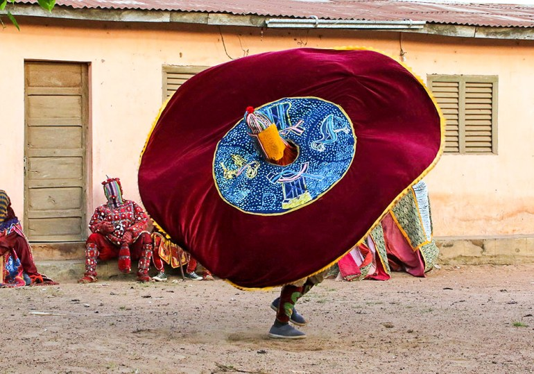 Egun dancer in Benin