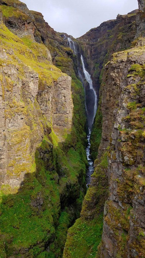 Glymur waterfall in iceland