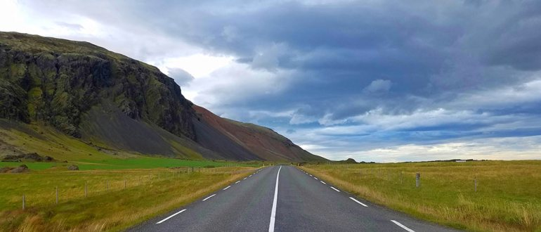 Winding roads of Iceland