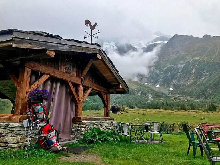 a refugio in the alps