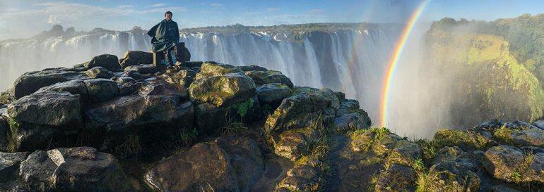 Panoramic shot of Victoria Falls