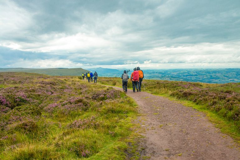 Hiking in Brecon Beacons National Park, Wales