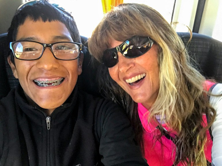 Dante and Laura selfie in Peru
