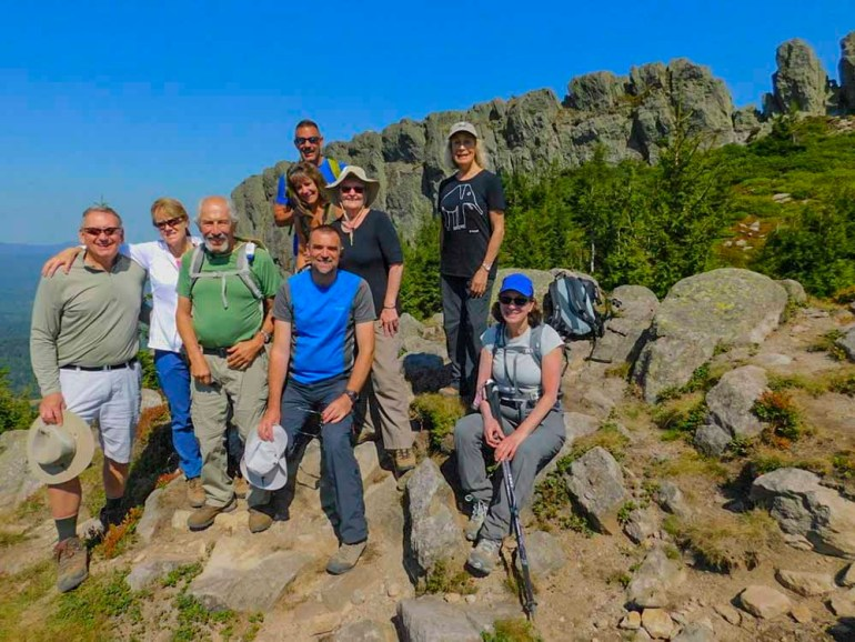 hiking group photo