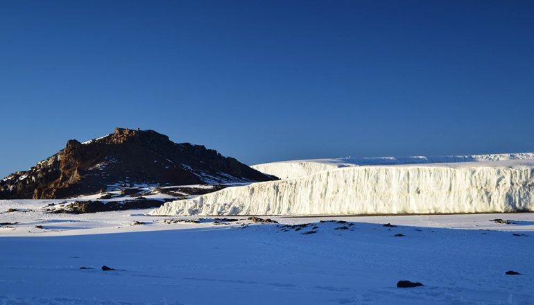 glacier photo in kilimanjaro