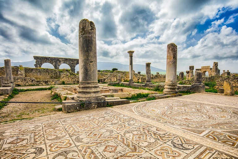 Morocco volubilis ruins