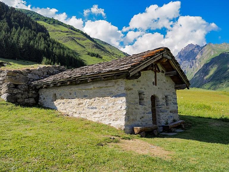A chapel near Mont Blanc