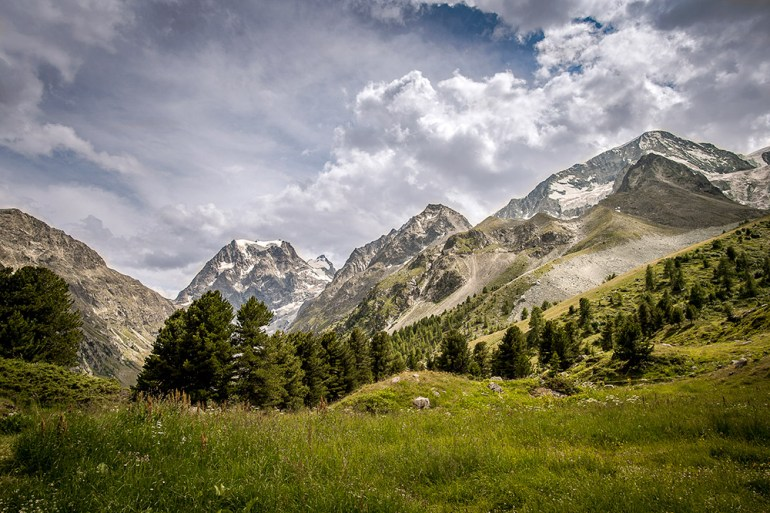 mountains on the haute route