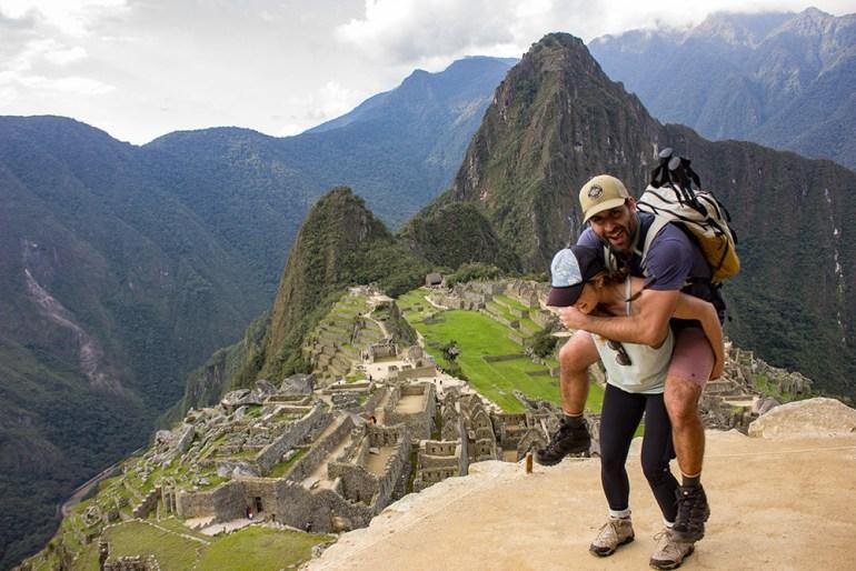 piggy back ride on the Inca Trail at Machu Picchu