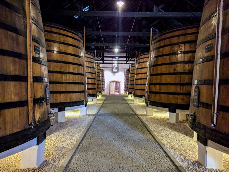 port wine cellar in portugal