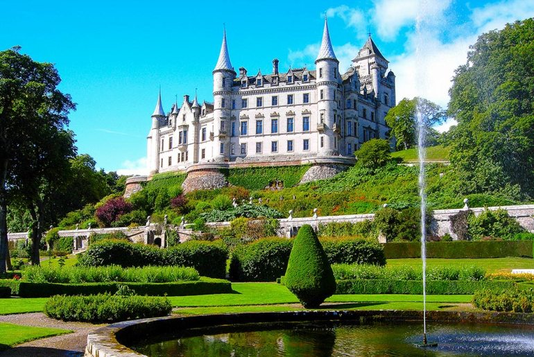Dunrobin Castle in Scotland
