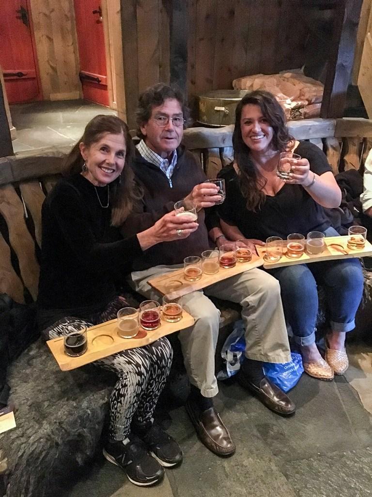 enjoying drinks in Norway