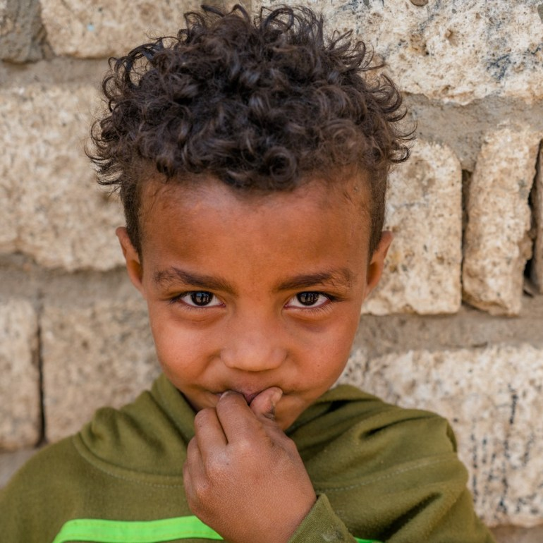 a boy smiling in Egypt
