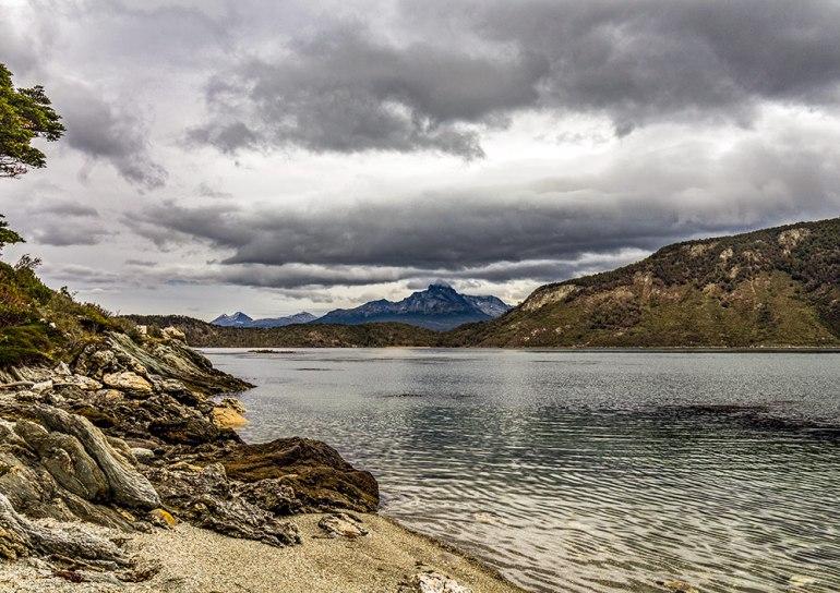 beagle channel in tierra del fuego patagonia