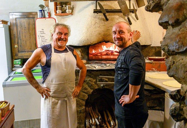 pizza cooks we met on mont blanc to mediterranean