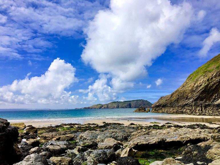 beach hike in england