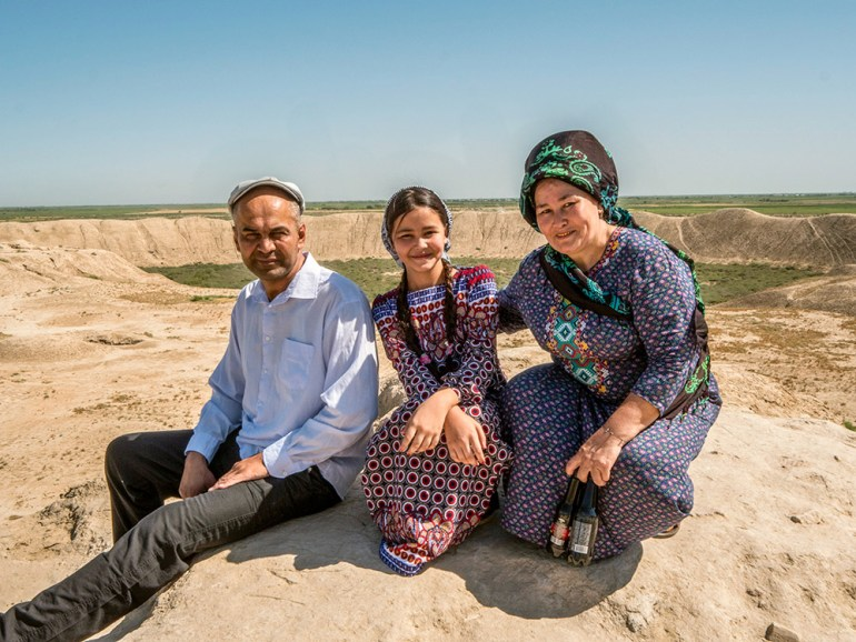 family portrait in central asia