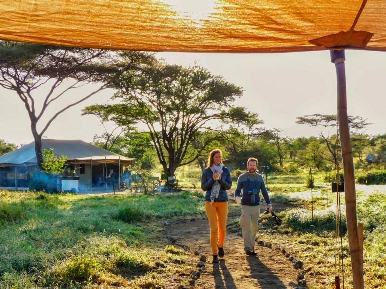 morning coffee at camp in the serengeti tanzania
