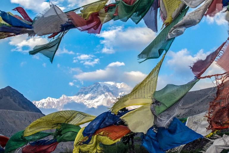 Prayer flags in Mustang Nepal