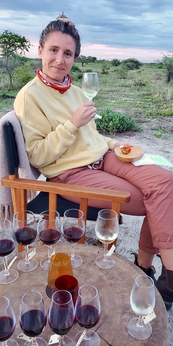 Namibia green season wine tasting
