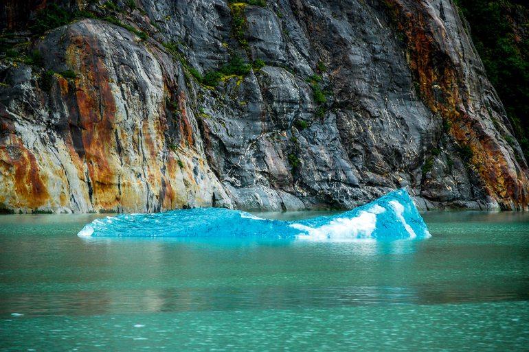 alaska inside passage blue glacier ice