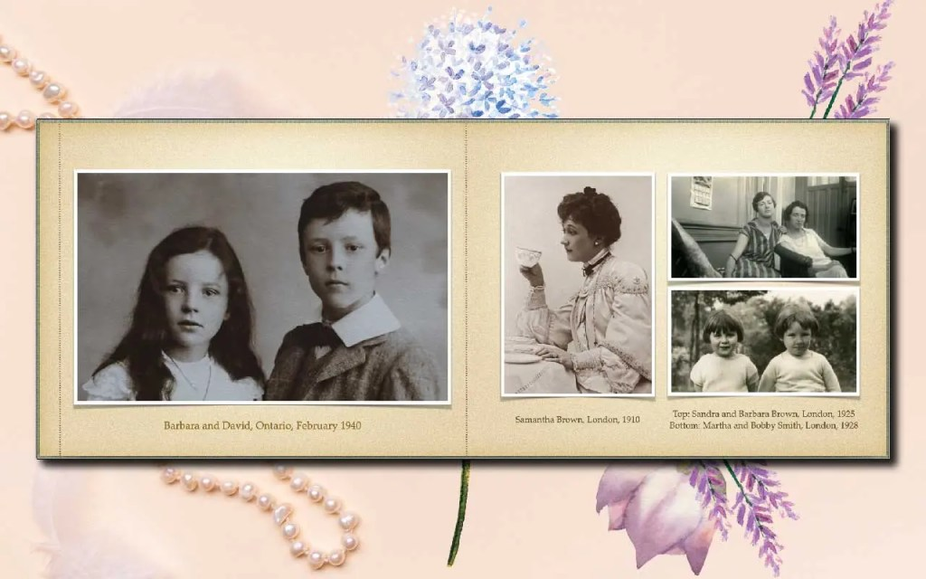 Adding black & white scanned pictures from old albums makes the photobook priceless for your mother.