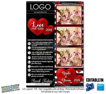 Romantic Stripes Bridal 2x6 Showcase