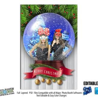 Christmas Snow Globe Pop UP