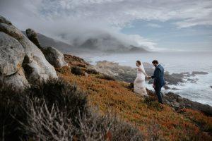 wedding couple beautiful scenery