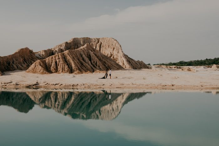 landscape shot in striking scenery