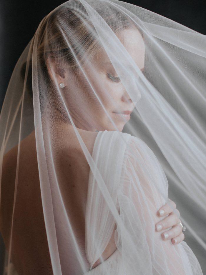 close up elegant and intimate bridal portrait