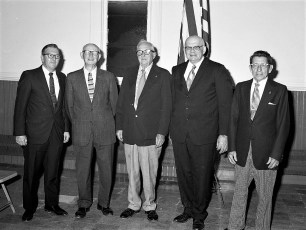 Am. Leg. Post 346 WW 1 Vets T. Bower Com., G. Meyer Vet, W. Fingar Vet, W. Miller Speaker, J.R. Barringer Vet. G'town 1975