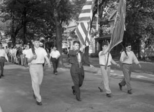 Am. Legion Parade in Chatham Chatham Legionnaires 1956 (2)