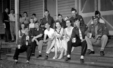 Am. Legion Parade in Chatham G'town Legionnaires 1956