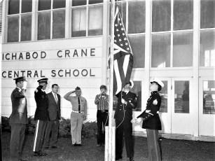 American Legion Presenting Flags to County Schools 1973 (1)